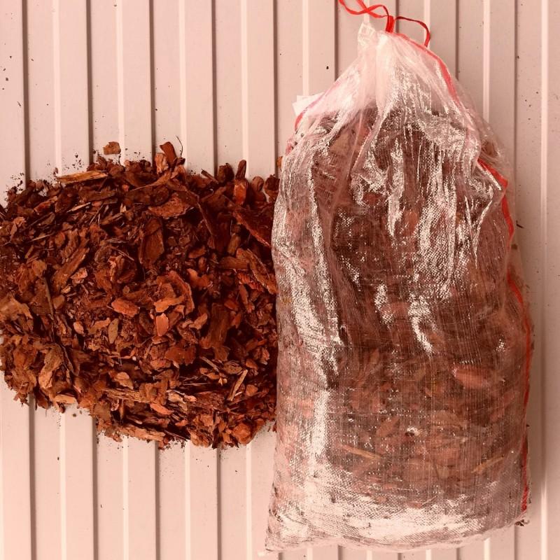 Кора сибирской лиственницы крупная (50-70мм)