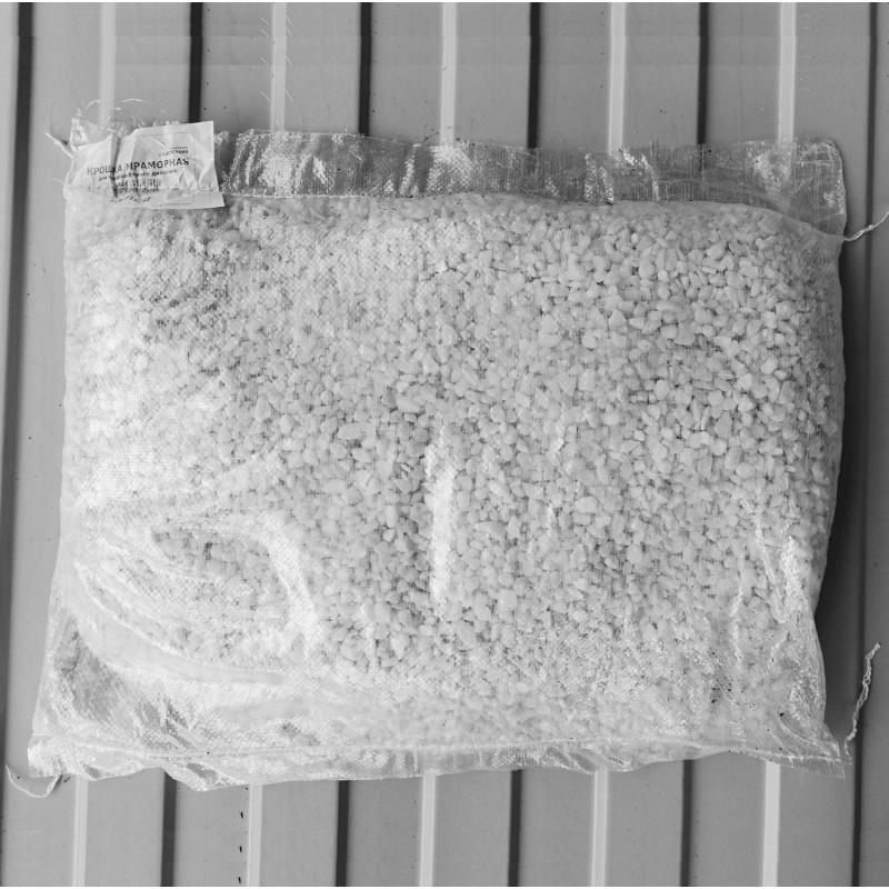 Мраморная крошка белая (5-10 мм)