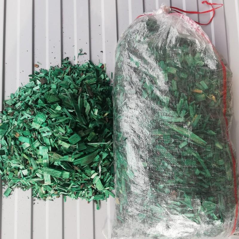 Декоративная щепа/мульча зеленая (Эконом)