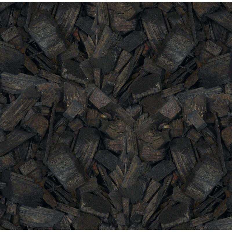 Декоративная щепа (мульча) черная