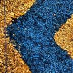 Декоративная щепа (мульча) синяя